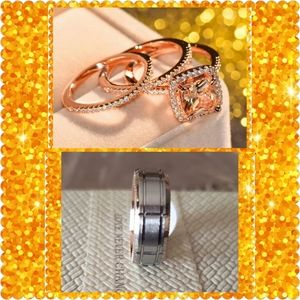 💝RATED #1💕4pc Rose Gold Couple's Set💕